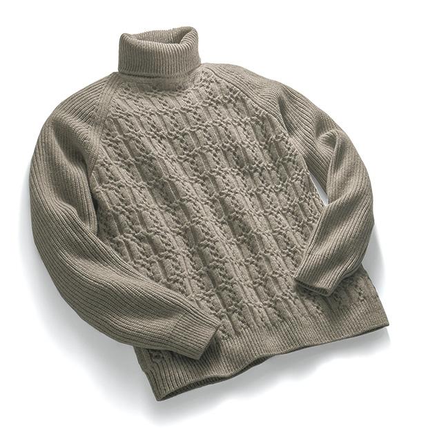 ニューケーブル・タートルネックセーター