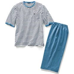半袖ボーダーパジャマ