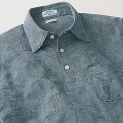 リンクスジャカードの半袖シャツ