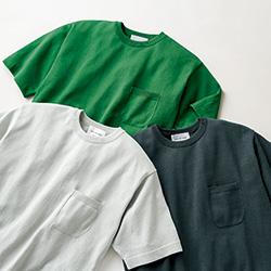 大人のこだわりニットTシャツ