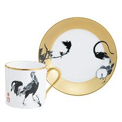 金地花鳥図コーヒー碗皿