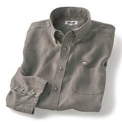 コンチネンタルリネンフェードカラー七分袖シャツ