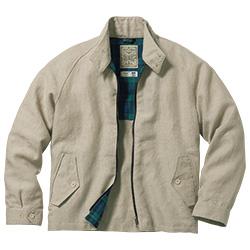 イギリス製・リネンハリントンジャケット
