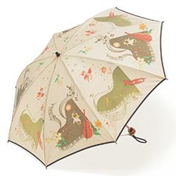 ほぐし織リの晴雨兼用傘/折りたたみ(ピアノ)