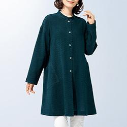 綿シルク絣シャツジャケット