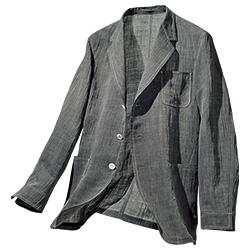 近江の手揉み麻・竿干しちぢみジャケット