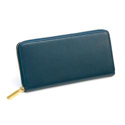 小銭を仕分ける長財布