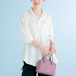 白のビッグシャツ