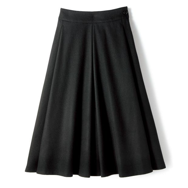 ウール混スカート
