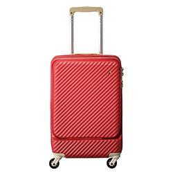 フロントポケット付き4輪スーツケース/34リットル