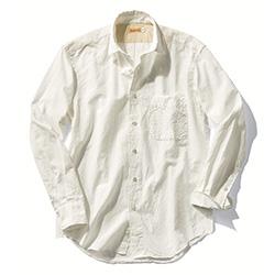 カディ生地のシャツ