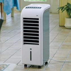 スリム温冷風扇/加湿機能付