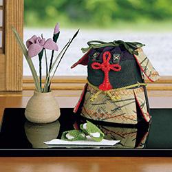 古布細工/鎧の香袋と菖蒲