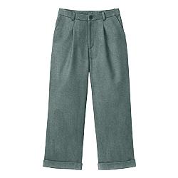 ストレッチツイード八分丈パンツ