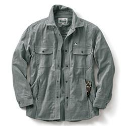 二重織りコットンのシャツジャケット