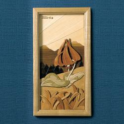木壁画「カタクリ」