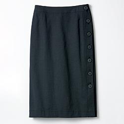 綿混ストレッチタイトスカート