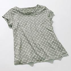 リネンプリントTシャツ