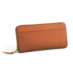 ベルギー革の三方ファスナー財布