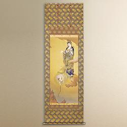 狩野芳崖「悲母観音」(ピエゾグラフ)/軸装