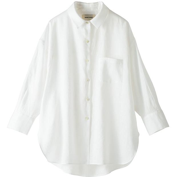 麻のビッグシャツ