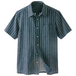 柳式・綿縮の半袖上衣/男女兼用