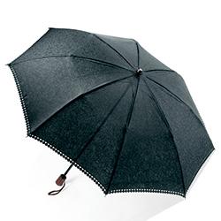 晴雨兼用/ジャカード織り折りたたみ傘(縁レース付)