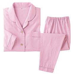 コットンシルクのサテンパジャマ/婦人用