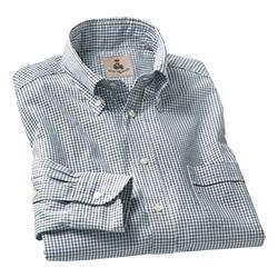 ヘリンボーン織り・タッターソールB.D.シャツ