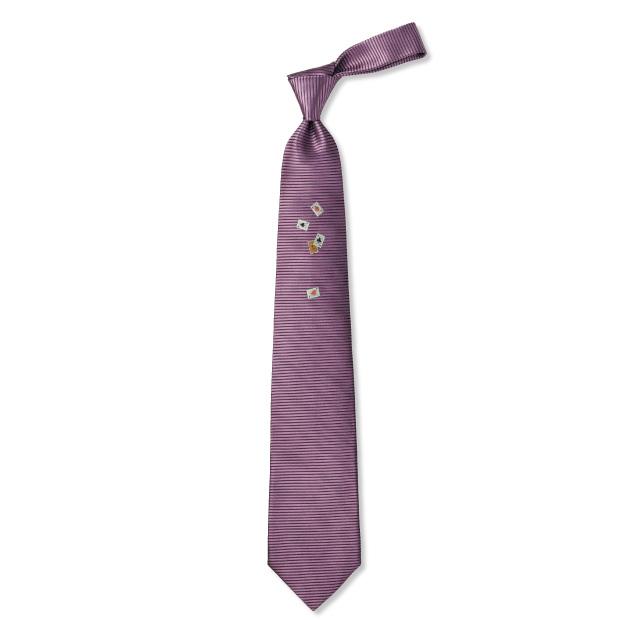 多色織り老舗のネクタイ/切り札