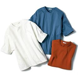 スムースコットン・ドロップショルダーTシャツ