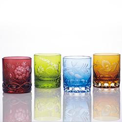 エングレーヴィング色被せオールドグラス