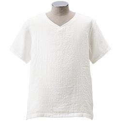 マシュマロガーゼ/メンズVネックTシャツ