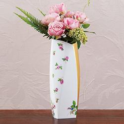 花瓶/マイセンのバラ