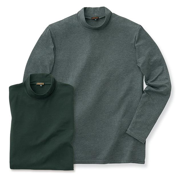 吸湿発熱ハイネックシャツ/2色セット