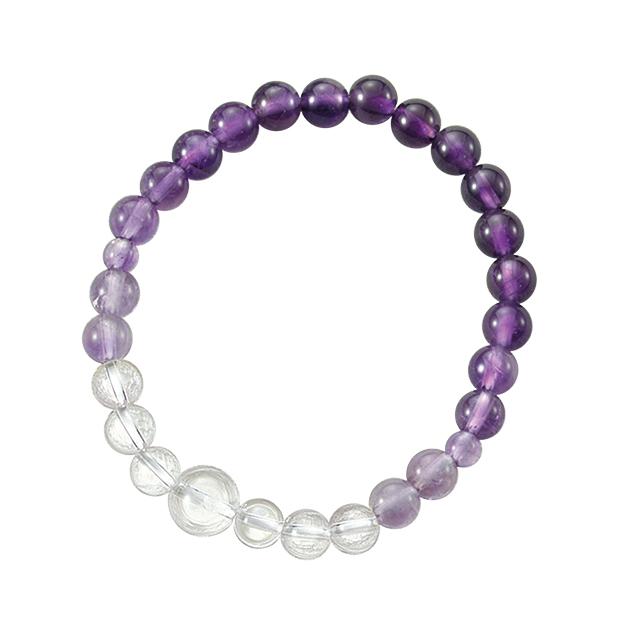 紫水晶グラデーション/腕輪念珠