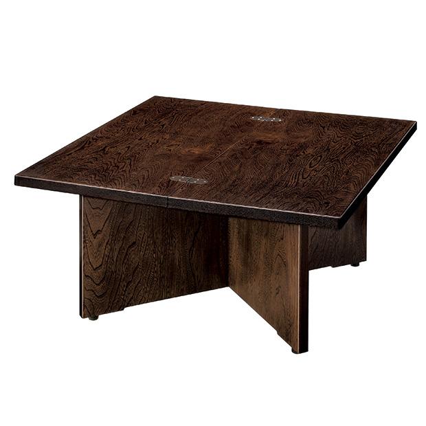 コンパクトにたためる木製組立式テーブル