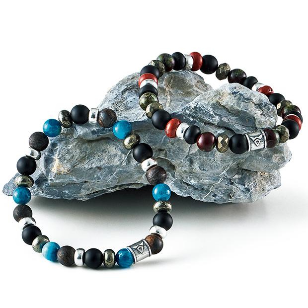 4種の天然石使いブレスレット
