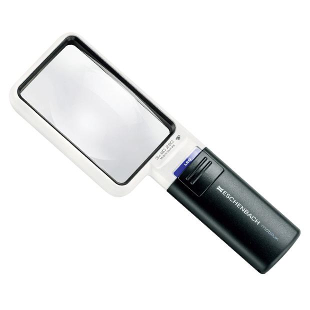 LEDライト付角型ルーペ/専用スタンド付き